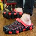 2016 de Moda de Verano Los Hombres Zuecos Zapatillas Mulas Transpirables Ocio Estilo Zapatos de Playa antideslizantes Para Hombres c266 15