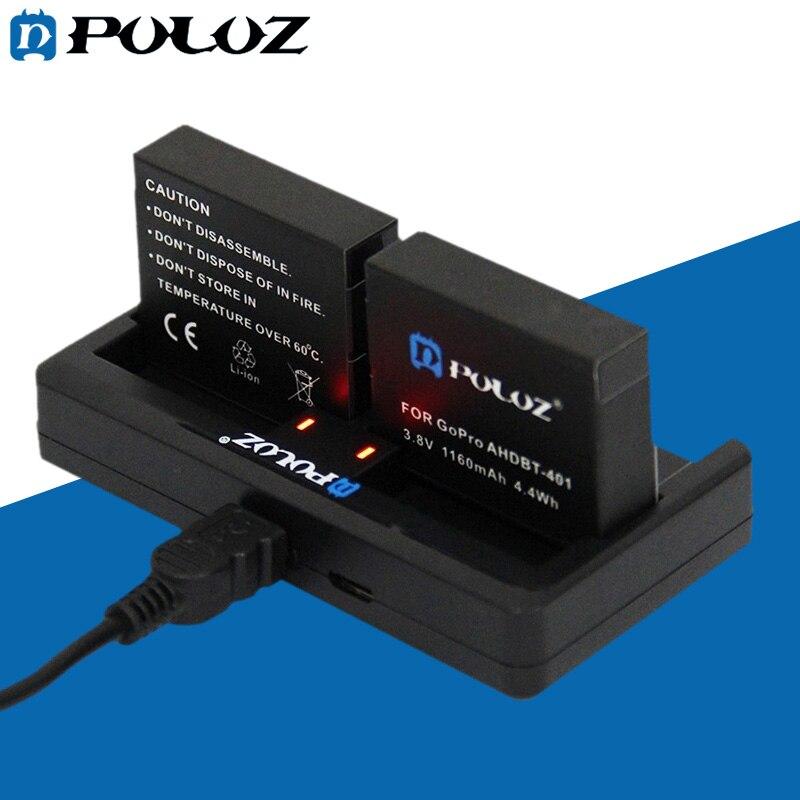 Go Pro Аксессуары 2-канальный Зарядное Устройство для GoPro HERO 4/3 +/3 (AHDBT-301/201, AHDBT-401)
