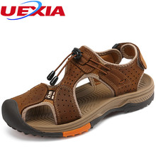 New Men Shoes Leather Sandals Breathable Comfortable Summer Shoes Fashion Flats Male Sandals zapatos hombres sandalias hombre