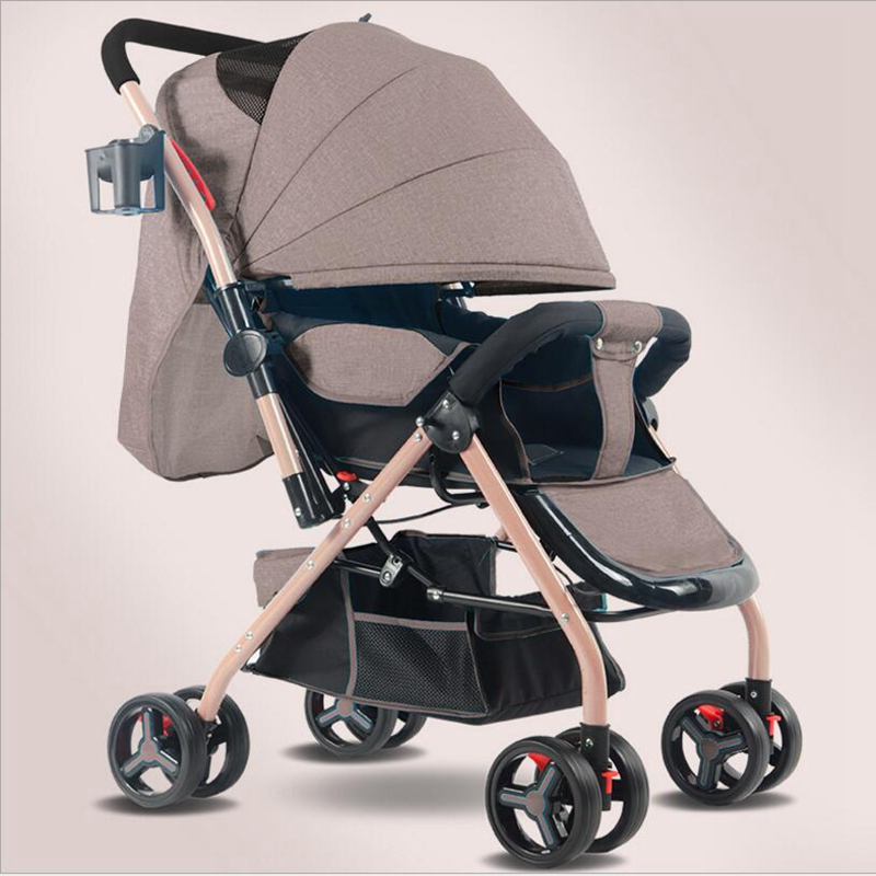5 Color 2018 New fashion Light portable folding stroller can sit lie four push baby strollers umbrella car stroller car bb newborn baby stroller 3 in 1 portable folding strollers sit and lie four wheels 2017 convience prams umbrella stroller 0 3years