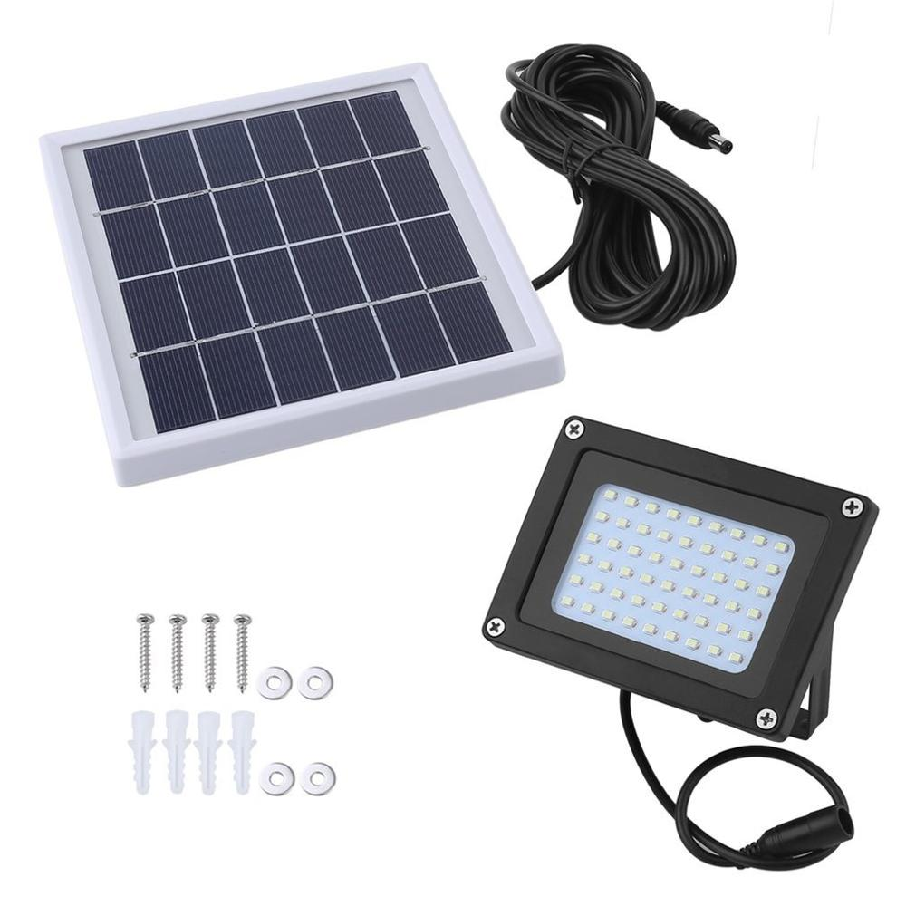 54 LED Solar Powered Light Outdoor Security Waterproof Lawn Light Sensor Flood Spot Lamp for Courtyard Garden Patio in Battery Accessories from Consumer Electronics