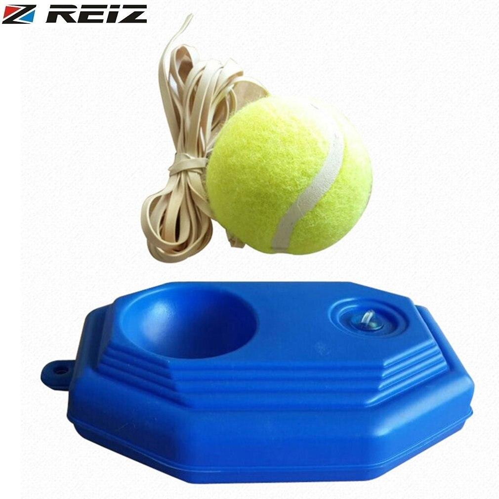 REIZ Portable Size Rebound Tennis Trainer Self-study Set Practical Tennis Beginner Training Aids Practice Partner Equipment