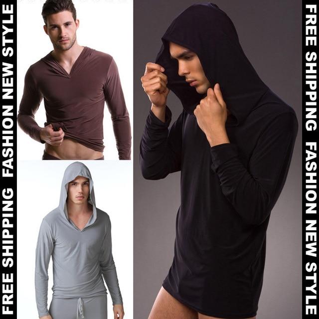 1 шт. Розничная мужчины сна топы полный рукав сексуальные мужские спать купальники пижамы пальто