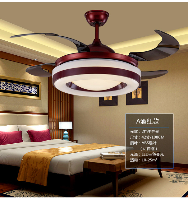 Us 261 22 11 Off Chinese Chandelier Fan Dining Room Living Room Bedroom Fan Light 110 240v Chandelier Fans With Remote Control Vintage In Ceiling