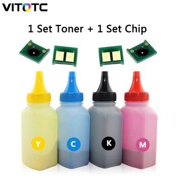 1 комплект цветной тонер-порошок + картридж чип совместимый для HP CP1025 CP1025nw MFP M175 M275 лазерный принтер CE310A CE311A CE312A CE313A