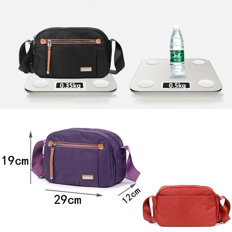 Fouvor Nylon Women Messenger Bags Small Purse Shoulder Bag Female Crossbody Bags Handbags High Quality Bolsa Tote Beach-in Top-Handle Bags from Luggage & Bags    2