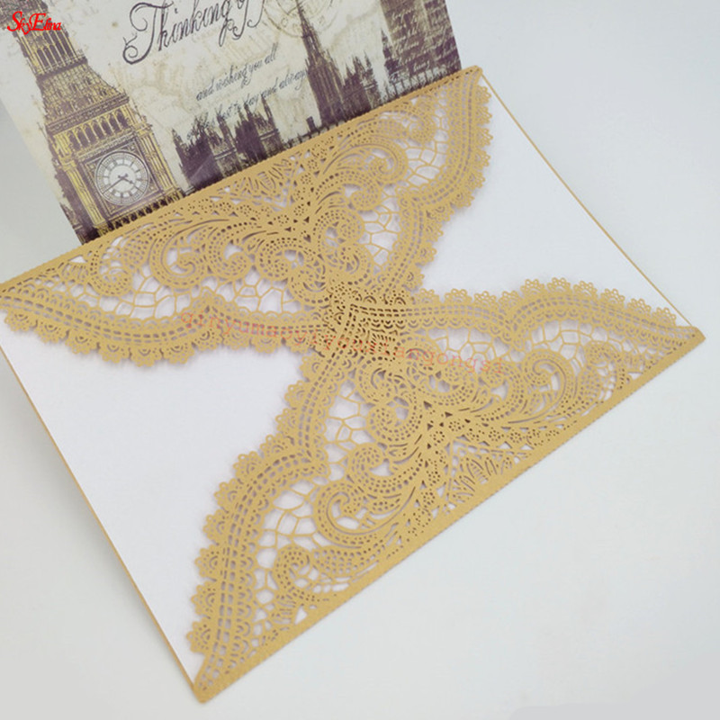 Wedding Invitations Stores: 30pcs Elegant Pattern Vintage Design Laser Cut Wedding
