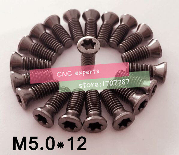 10pcs M6 x 18 mm Insert Torx Screw for Replaces Carbide Inserts CNC Lathe Tool