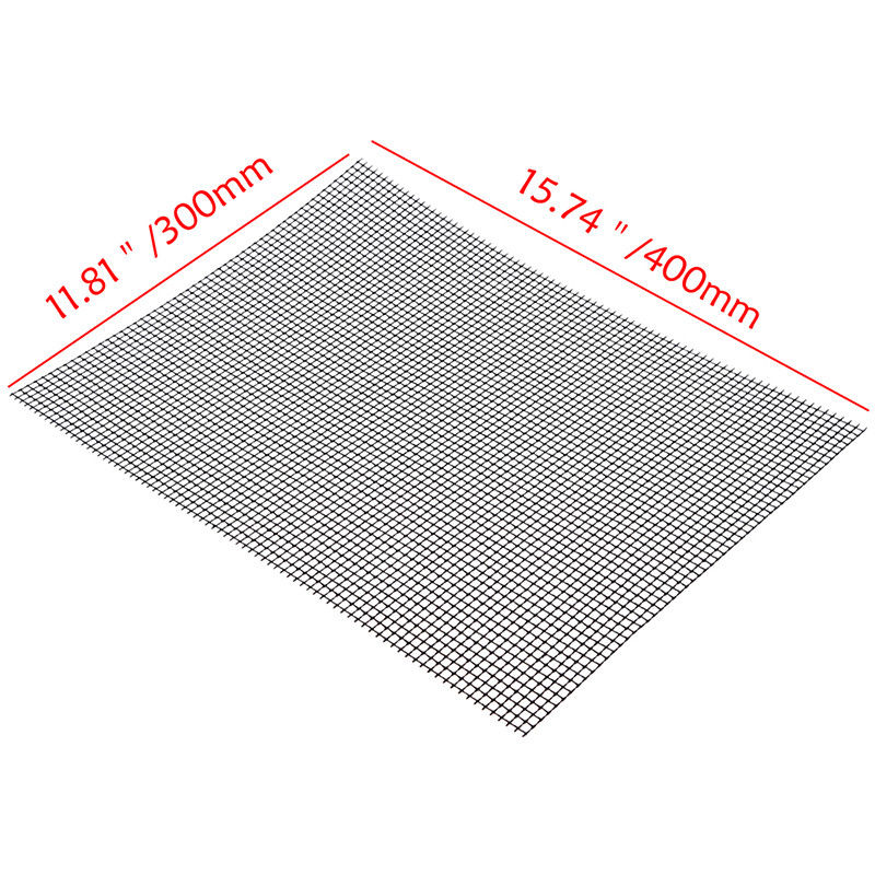 Non-stick BBQ Barbecue Grill Mat Replacement Baking Sheet Mesh Wire Net Outdoor Cooking Tool 2 colors