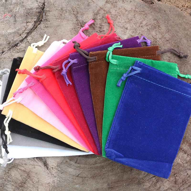 Velvet Bags, JapaMala Bags, 12 Color Bags, 9cm*12cm Size, Choose The Beauty Color Bag For Your Mala
