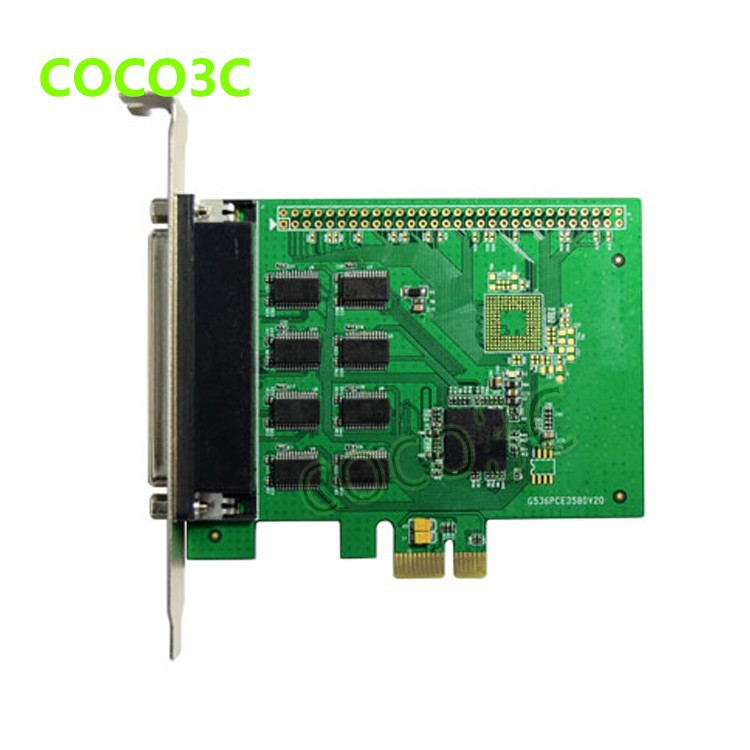 8 Ports Serial PCI Express with fan out cable PCI-e to multi RS232 DB9 Ports converter Industrial IO card 5