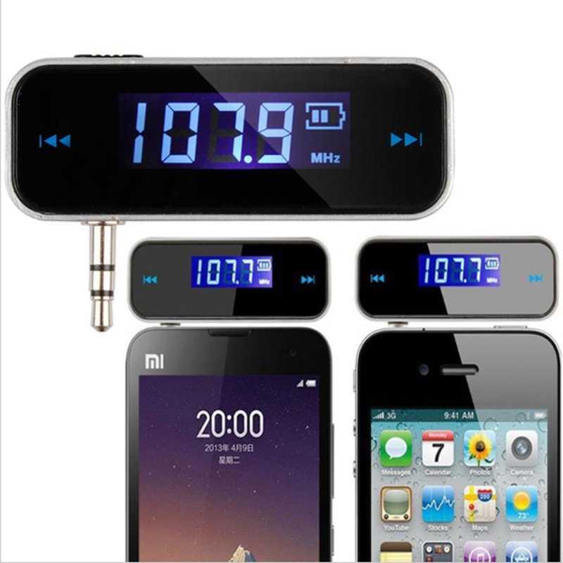Dehyaton Mini transmisor electrónico reproductor MP3 para teléfono inalámbrico 3,5mm en el coche música Audio FM Transmisor Radio adaptador