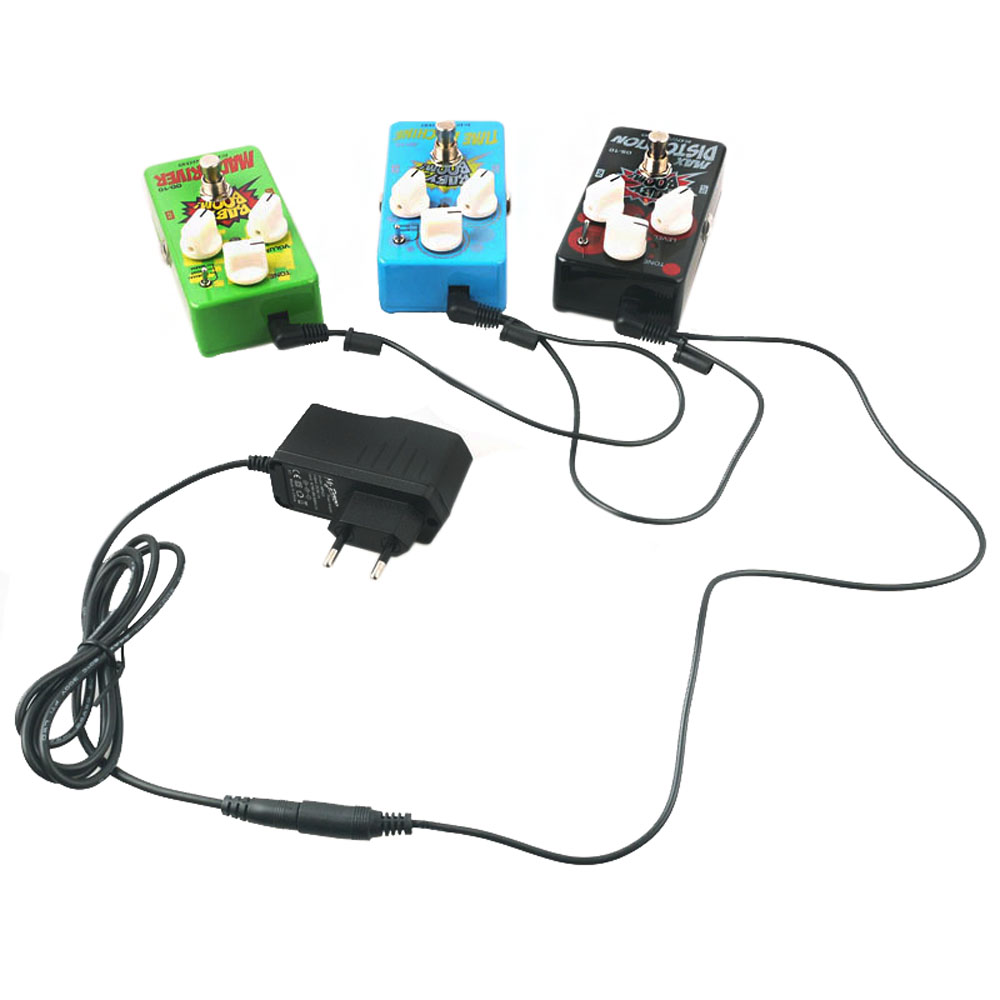 Купить EU US UK AU 9V DC 1A Guitar Effects Power Supply/ Source Adapter, Power Cord/Leads 3 Daisy Way Chain Cable Fot Fonte Pedal 45 в Москве и СПБ с доставкой недорого