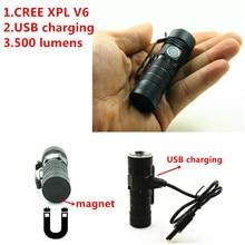 16340 USB Перезаряжаемый 500 люмен 2018 фонарик CREE XPL V6 мини светодио дный светодиодный фонарик освещение