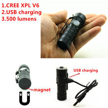2018 USB Rechargeable 500 Lumens 16340 Flashlight CREE XPL V6 Mini LED Flashlight Torch Lighting(China)