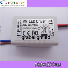 2pcs/lot 1-5x1W LED driver 1x1W 2x1W 3x1W 4x1W 5x1W External power supply transformers for ceiling light lamps(China)