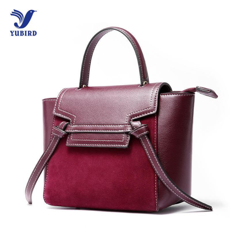 YUBIRD Fashion Genuine Leather Bag Female Brands Luxury Handbags Women Bags Nubuck Designer Shoulder Crossbody Messenger Bags