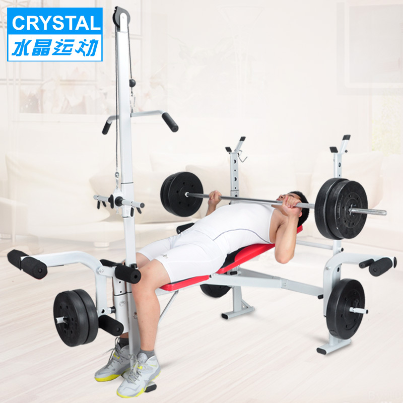 crystal weightlifting bed bench press rack barbell squat