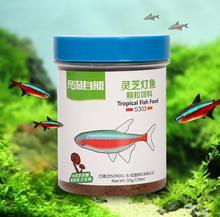 Fish feed fish lamp. Special food of Ganoderma lucidum polysaccharide brightening