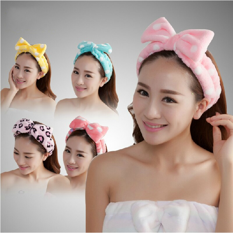 Free shipping high quality Bathroom sets women Wash a face/outdoor sports comfortable flannel fabric headband hair Towel