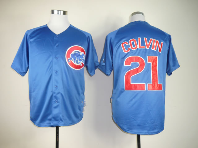 premium selection 7ef8f b35a2 US $31.98 |Cheap Chicago Cubs Jerseys 1 Fukudome 21 Colvin Shirts Stitched  Baseball Jersey Best Quality Size:M XXXL Free Shipping-in Short Sleeve ...