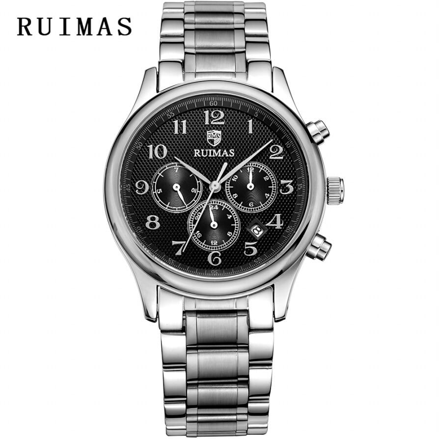 RUIMAS Luxe Merk Heren Zakelijk Automatisch Horloge Sapphire - Herenhorloges