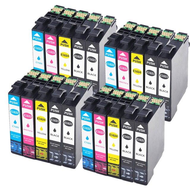 20 Pack Compatible Epson  16XL T1631 1632 ink cartridge for WF 2650 WF-2630 WF-2660 WF-2750 WF-2760 XP-320 XP-420 XP-424