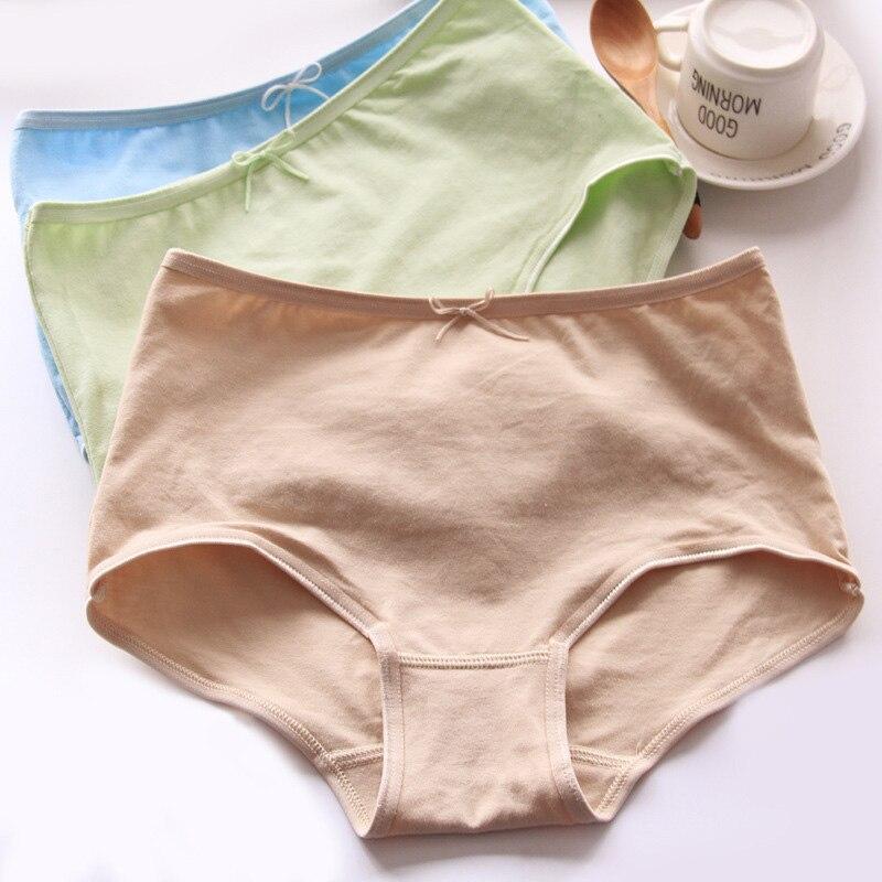 Women's underwear high waist large size abdomen girls underwear boyshort cotton brief women's   panties