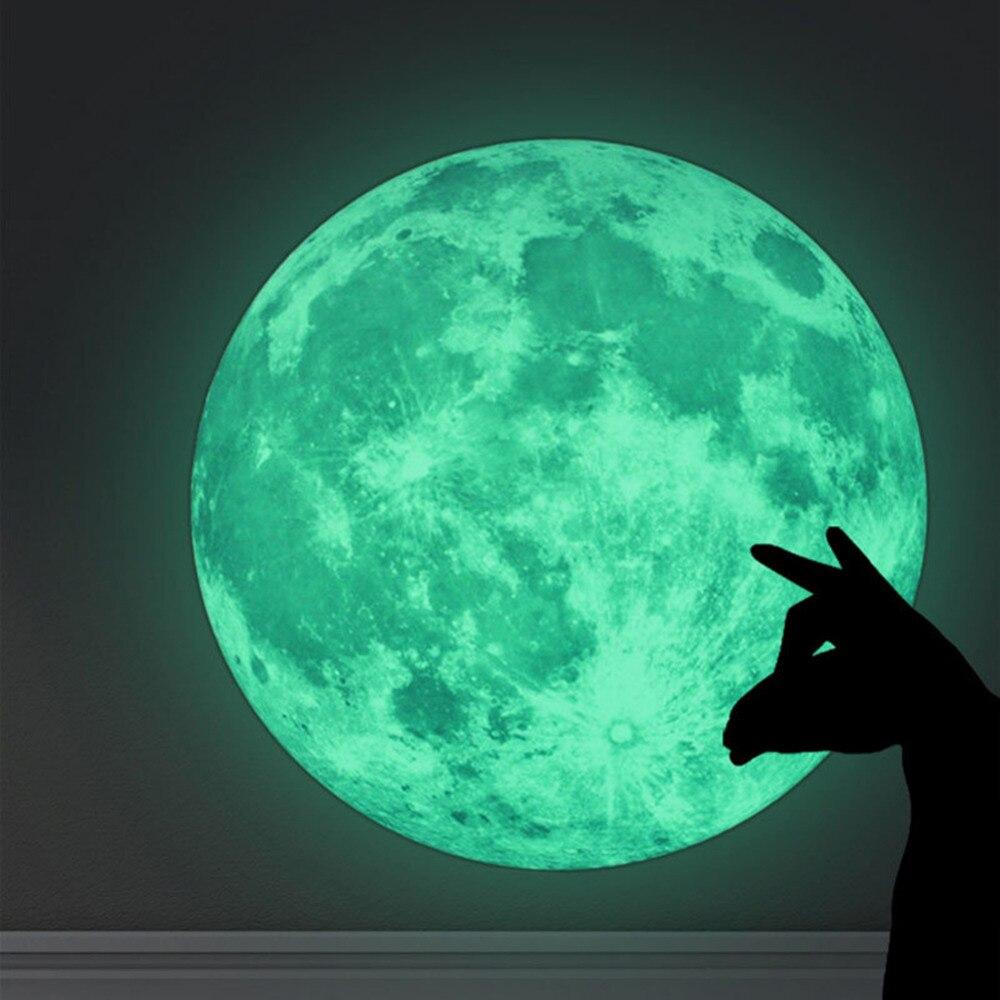 Moon Stars Glow Wall Sticker In The Dark Luminous Diy Living Wallpaper Home Decor Adesivo De