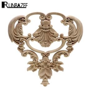 RUNBAZEF Vintage Wood Carved D