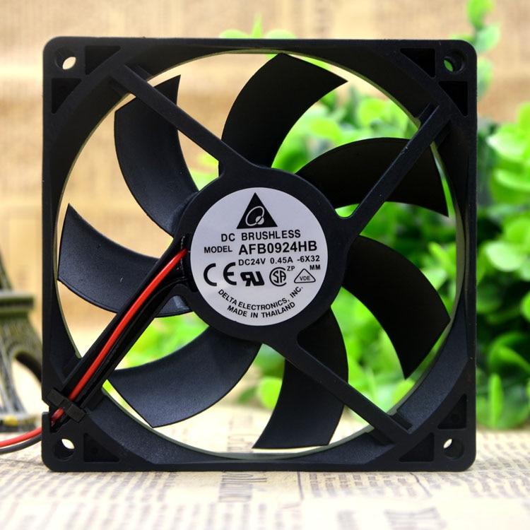 Original Delta 9CM 9020 24V 0.45A AFB0924HB 90 90 20MM cooling fan