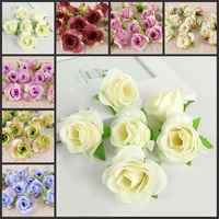 100 pcs * 1.6 Pouces (4 Cm) petit Artificielle Soie Rose Fleur Tête Jardin Décor Party & Wedding Favors AFH10051