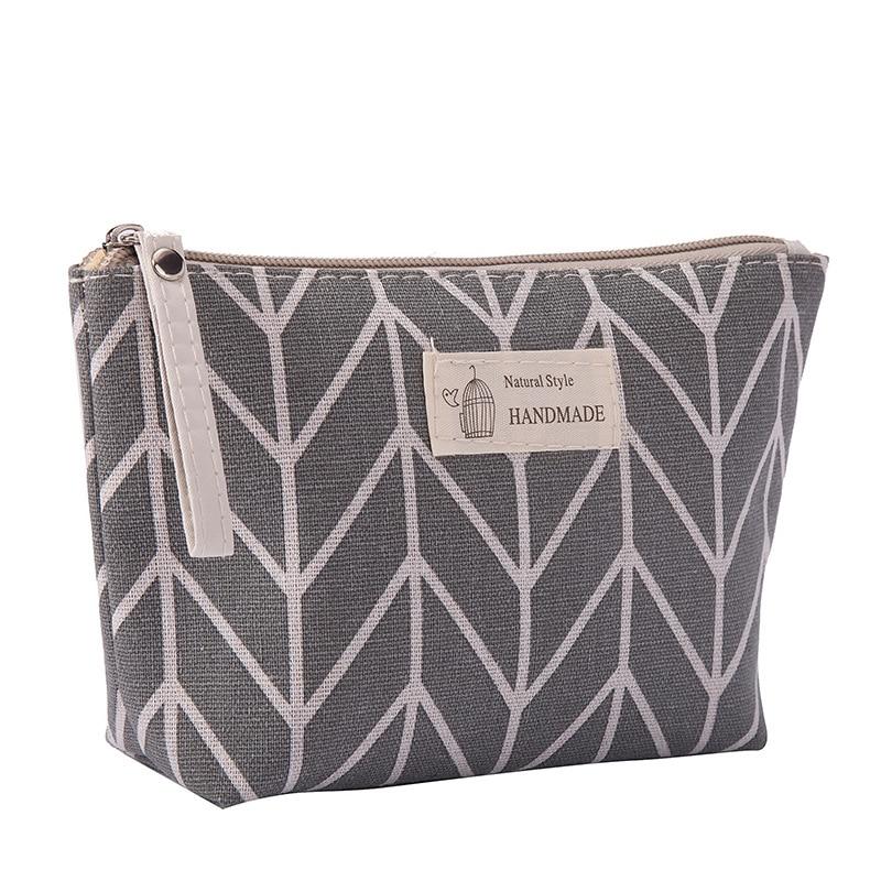 BEAU-Women Plaid Travel Cosmetic Bag Makeup Bags Handbag Female Zipper Purse Small Make Up Bags Travel Beauty Organizer Pouch