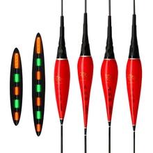 Pesca Float de alto brillo luminoso flotadores alta sensata noche electrónica flotadores con luz excelente pesca rojo boya para pescar