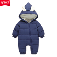 IYEAL 2017 Newest Winter Outwear Baby Clothes Warm Overalls For Newborn Cotton Infant Baby Girl Boy