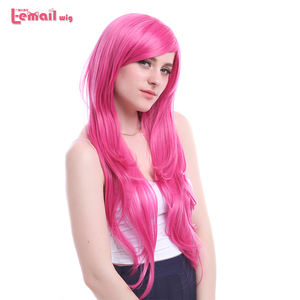 Image 2 - L email wig New Arrival Women Wigs 6 Colors 80cm Long Straight Heat Resistant Synthetic Hair Perucas Cosplay Wig
