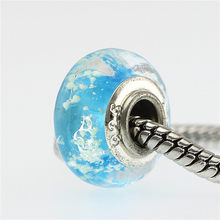 6 Cores Europeu Murano Glass Beads fit Pandora Bracelet & Necklace Elegante Banhado A Prata Fascinante Fazer Jóias DIY(China)