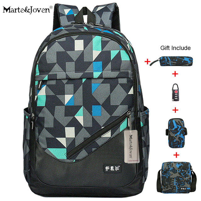 c9de71239797  Marte Joven  High Quality 15   16   Waterproof Black Laptop Backpack Men  Best Carry On Travel Rucksack High School Backpack Bag
