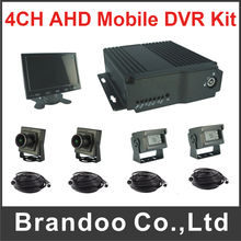 1080P 108N Mobile DVR Kit H.264 Compression Support Dual SD Card for Bus