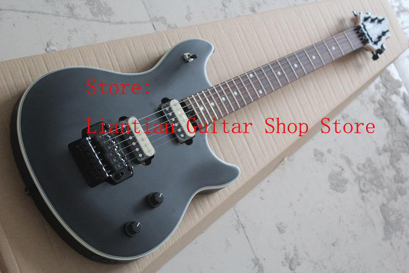 free shipping new top quality evh wolfgang black color electric guitar with zebra pickups 17 12. Black Bedroom Furniture Sets. Home Design Ideas