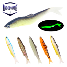 Купить с кэшбэком 2pcs/lot Vivid Easy Shiner Soft Fishing Lure 13cm 12.5g Wobblers Silicone Shad Worm Lifelike SwimBait Artificial Fishing Lure