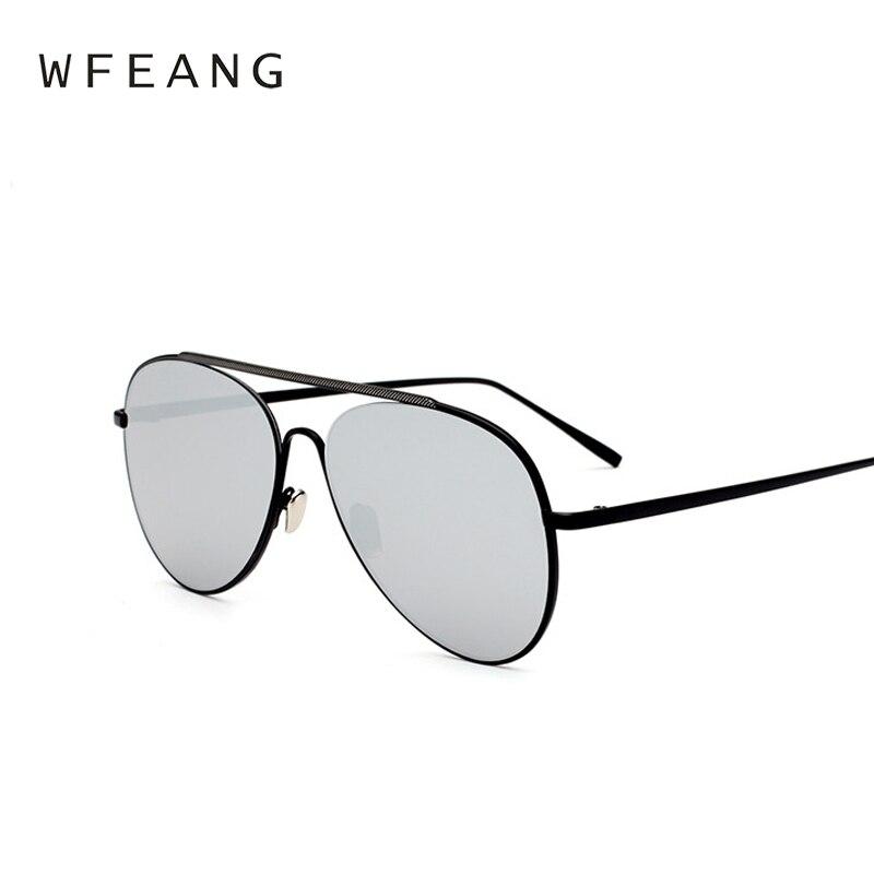 42d01c6b266 WFEANG Black Aviator Sunglasses Metal Sun Glasses Brand Designer Pilot  Sunglasses Women Men Shades Top Fashion-in Sunglasses from Apparel  Accessories on ...