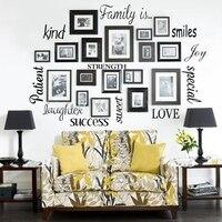 Бесплатная доставка стены наклейки home decor-семья виниловые буквами слова Wall Книги по искусству Цитата Sticky Наклейки, F1001