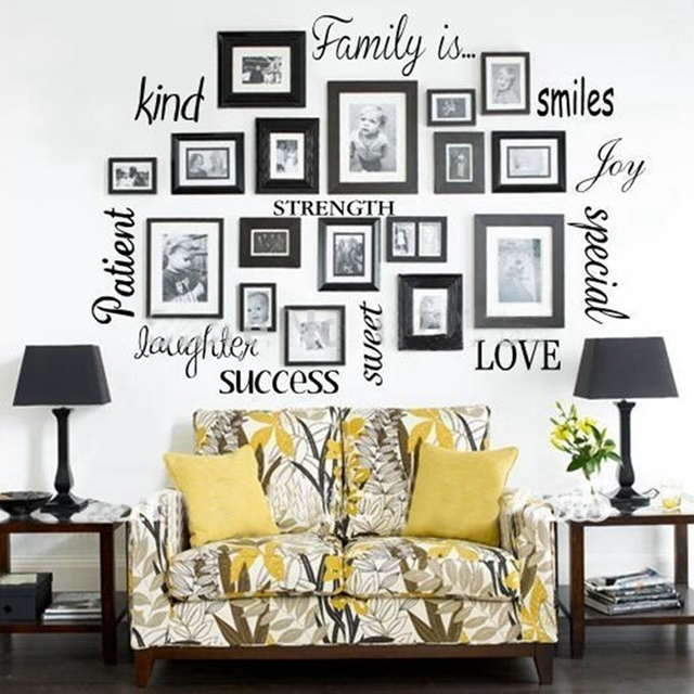 Free Shipping Family Is Vinyl Wall Lettering Quote Wall: Aliexpress.com : Buy Free Shipping Wall Stickers Home
