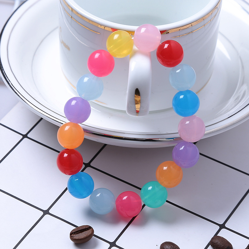 Acrylic Candy Beads Bracelets Lovely 9 Colors Beads Bracelet For Child Children Chritmas Gift