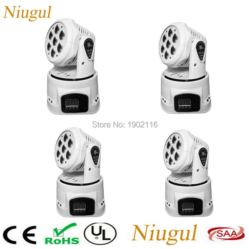 4pcs/lot High Brightness White Color 7X12W LED Moving Head Light/RGBW LED Wash Beam Effect Stage Lights/Bar Disco DJ Lighting 6pcs lot white color 132w sharpy osram 2r beam moving head dj lighting dmx 512 stage light for party