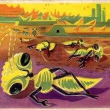 Ilustración de Alien Ant francés Sci-Fi sala de niños arte Vintage decorativo Kraft póster lienzo pintura pared pegatina hogar Decoración regalo