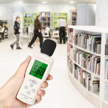 Cyfrowy miernik poziomu dźwięku Mini 30-130dB miernik decybeli wyświetlacz LCD mierniki poziomu dźwięku hałasu otoczenia przyrząd do pomiaru tanie i dobre opinie AS804 Sound Level Meter 30 ~ 130dB SMART SENSOR