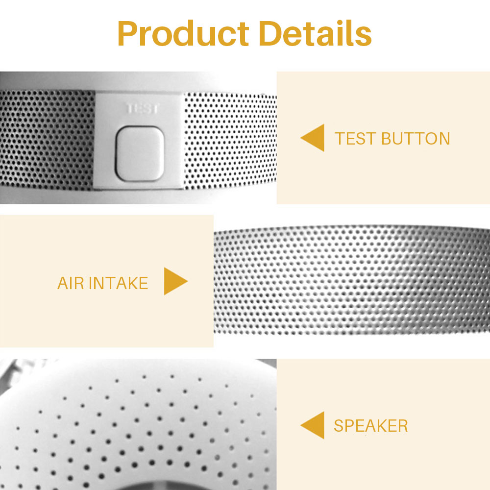 Image 4 - Smoke Detector Sensor Fire Alarm Universal CO&Smoke Detector Carbon Monoxide For Kitchen/Restaurant/Hotel/Home Security-in Smoke Detector from Security & Protection