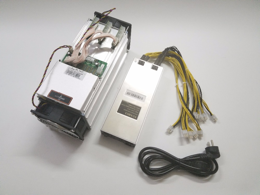 Utilizados Mineiro ASIC AntMiner S9 14TH/S BCH SHA256 Com PSU BTC Miner Better Than Antminer S9 13.5 T t9 + S11 S15 WhatsMiner M3